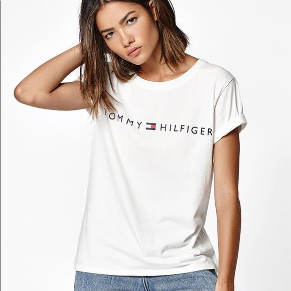 779548f5 Tommy Hilfiger Tops | 1 Hour Sale Womens Graphic Tshirt | Poshmark
